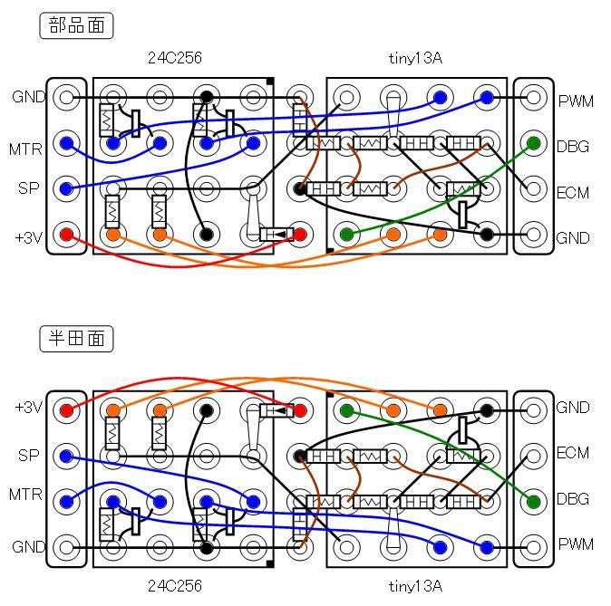 ミミクリーペット5ECM配線図