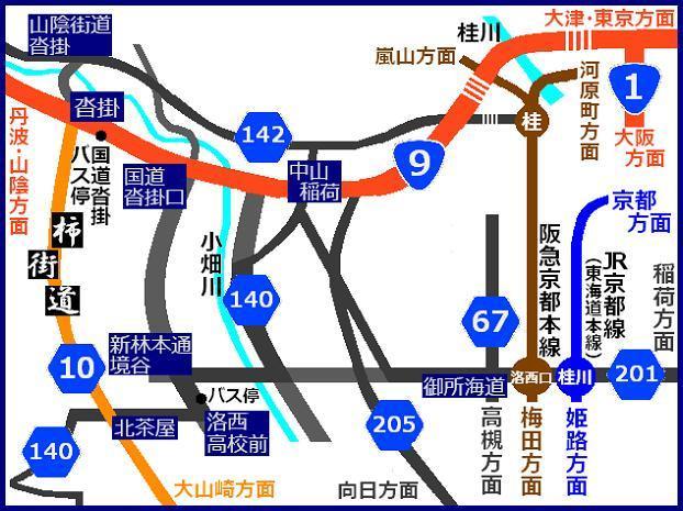 $おがのおーがにっくらいふ(★´ひ`★)ゞ-大枝MAP