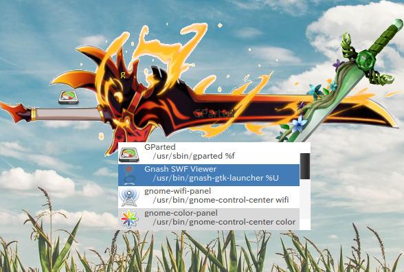 Ubuntu 18.04 Launchy カスタムスキン