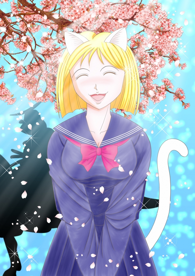 春のシュレ猫たん1(文字なし)