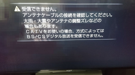 テレビの表示
