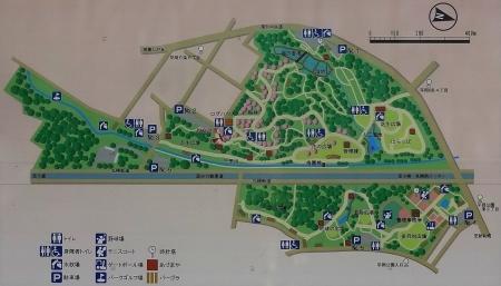 平岡公園案内図