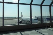 7:32 新千歳空港にて。羽田空港行きです。