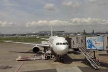 9:52 羽田空港にて。鹿児島行きです。