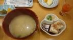 7:35 味噌汁と湯豆腐(私)