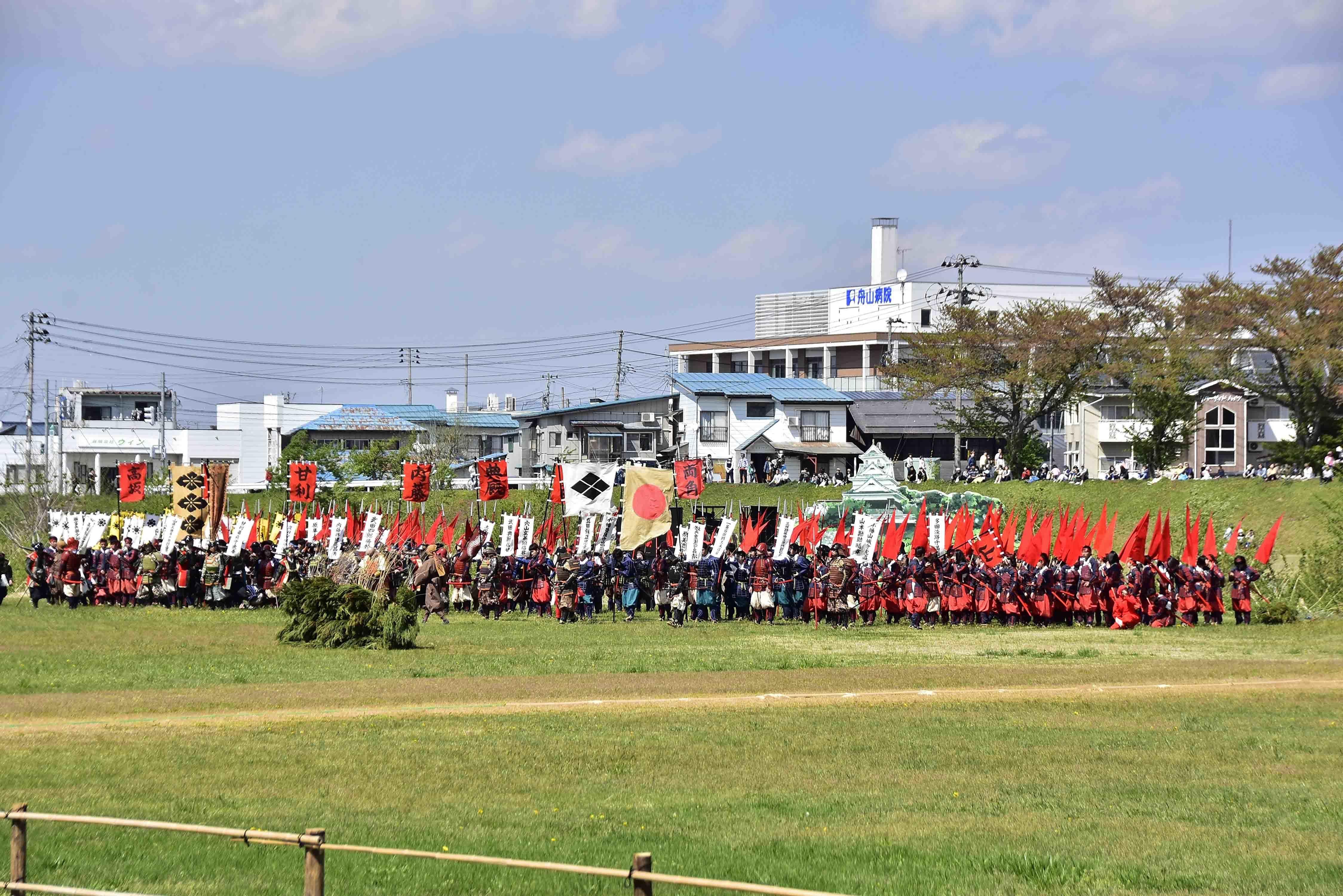 布陣する武田軍