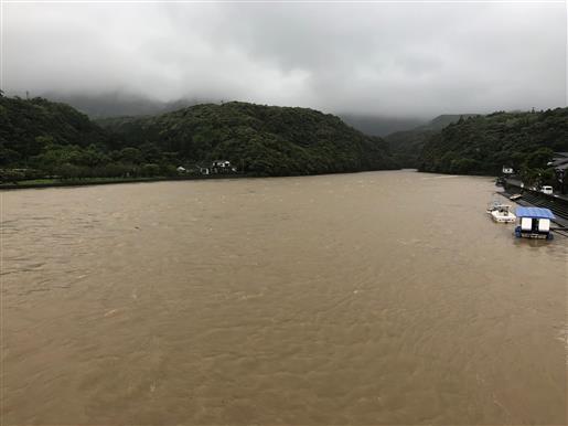 5月22日 19日の安房川濁流