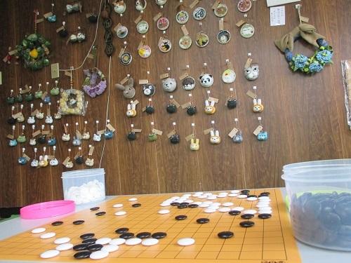 ハンドメイドショップにこひつじのところで囲碁してみた