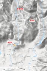 天台山地形図