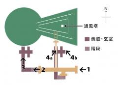 打虎亭漢墓map